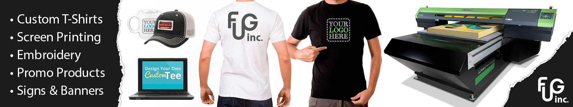 FUG Inc. offers screen printing, embroidery and promotional products in Michigan